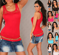 Sexy Blouse women sleeveless Top Front Ladies Lace Party Shirt Size 6 8 10 12 S