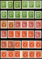 Canada #263-#267, #278-#281 King George VI Perf 8 & 9 1/2 Coils Lot 20 items
