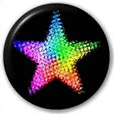 Small 25mm Lapel Pin Button Badge Novelty Rainbow Star