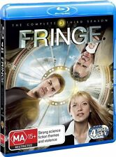 Fringe : Season 3 (Blu-ray, 2011, 4-Disc Set) Brand New (D118)