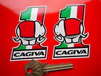 CAGIVA Elefant 75mm Racing handed pair Stickers