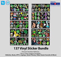 137 Weed Marijuana Cannabis Vinyl Sticker Bundle