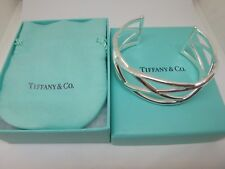 Tiffany & Co. Sterling Silver Cross X  Weave Cuff Bracelet