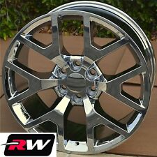 "20"" inch 20 x9"" Wheels for Chevy Avalanche Chrome GMC Sierra 2014 2015 Rims"