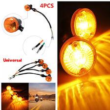 4PCS Amber Motorcycle Round Turning Lights Signal Lamp Bulb Direction Indicator