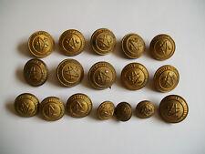 LOT 17 BOUTON ANCIEN ECOLES NATIONALES-FRANCE-21-22-14-19 mm-compas équerre