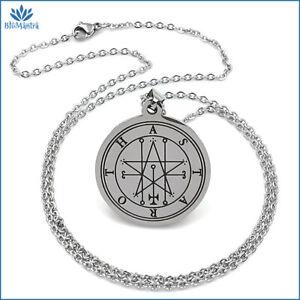 Collana uomo donna con ciondolo amuleto talismano Astaroth in acciaio inox da a