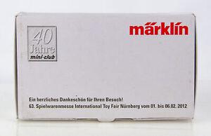 Marklin 2012 #63 40 Year Give Away Souvenir Locomotive Figurine - Nurnberg Fair