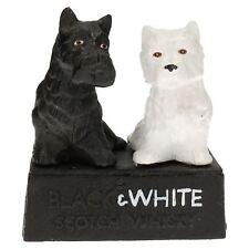 Black & White Buchanan's Scotch Whisky Whiskey Statue Figurine Chien Scottie