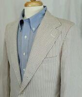 VTG Sak's Fifth Avenue Men's Seersucker 2 Button Blazer Sport Coat 40 R Stripe
