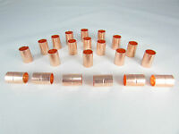 """COPPER COUPLING WITH STOP SIZE 3/8""""/QTY: 20 FOR REFRIGERATION OR A/C"""