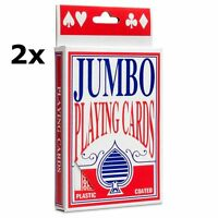 2xJumbo Giant Playing Cards Set, 5 x 3.5 Inch,12 x 9 cm Size 2 DECK PACK *OFFER*