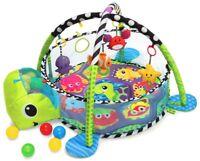 Krabbeldecke mit 30 Bälle Erlebnisdecke Baby Spielmatte Kinder Decke Matte Bogen