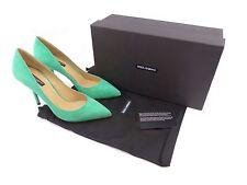 Dolce & Gabbana Decollete Smeraldo Suede ~ UK 6 / EU 39 / US 9