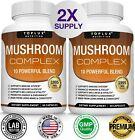 Mushroom Complex Supplement (2 Pack) +10 Mushrooms Lions Mane Reishi Pills