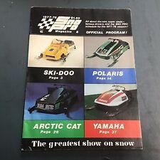 1977-78 SNO PRO Snowmobile Magazine PROGRAM ski Doo Arctic Cat Polaris Yamaha