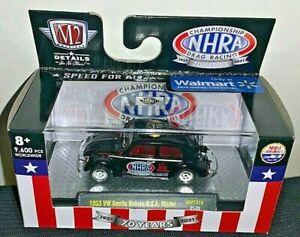 M2 MACHINES 2021 1/64 WALMART NHRA 1953 BLACK VW BEETLE DELUXE MODEL WMTS16 NEW!