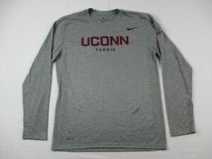 UConn Huskies Nike Long Sleeve Shirt Men's Gray Dri-Fit NEW Multiple Sizes