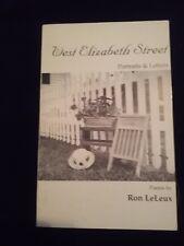 West Elizabeth Street, Portraits & Letters; poems by Ron LeLeux <NP1348>