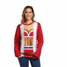 Men Women Xmas 3D Sweatshirt Pullover Coat Christmas Jumper Tops Blouse Jumper