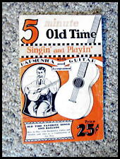 """Serious Collectors 1929 """"5 Old Time """" Harmonica And Guitar Course. Rare"""