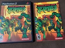 CASE AND MANUAL ONLY Teenage Mutant Ninja Turtles PS2 Playstation 2 TMNT No Game