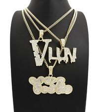 NEW ICED OUT LIL UZI VERT 3 CHAIN SET.
