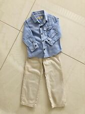 Boy Bundle Next Gant 12-18 12-24 Shirt Trousers Preppy Blue Shirt Chino Outfit