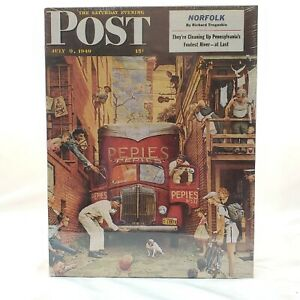 """Norman Rockwell's """"Traffic Conditions"""" 500pc Springbok by Hallmark Jigsaw Puzzle"""