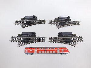 CT738-0,5# 4x Trix Express Pappschwelle H0 E-Weiche mit Licht, geprüft, sehr gut