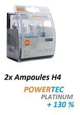 2x AMPOULES H4 POWERTEC XTREME +130 KAWASAKI GPZ 500 S (EX500C, EX500D, EX500E)