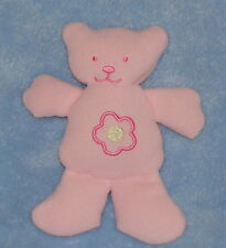 Sandy & Simon Small Pink Plush Teddy Bear Fleece Flower Stuffed Baby Toy 6""