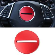 Red Interior Steering Wheel Center Cover Trim For Chevrolet Camaro 2016 - 2019
