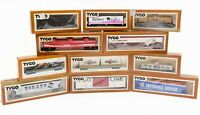 [11 Pieces] Tyco HO Scale NOS Freight, Tanker, Reefer, Box, Flat Cars