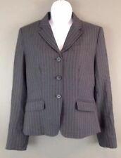J CREW Womens Gray Pinstriped Wool Blazer Size 6