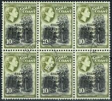 Used Block Ghanaian Stamps