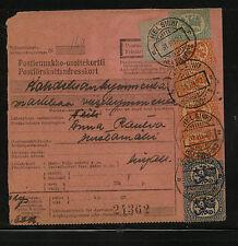Finland  nice franking  parcel card 1927       KL0125