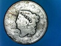 1828 SMALL WIDE DATE CORONET HEAD LARGE ONE CENT--UNITED STATES OF AMERICA