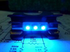 7 x NEW 8V LED Fuse Lamps (Cool Blue) Made for Receiver Restoration Repair