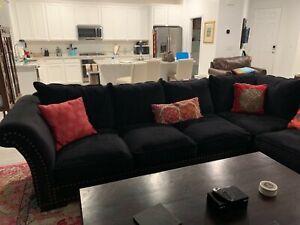 Custom Handmade Velvet Tufted Secrional Sofa