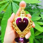 Crystal Vintage Metal Perfume Purple Cut Glass Bottle Collectible Empty Gifts