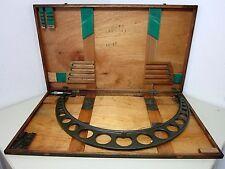 "MITUTOYO Outside Micrometer No. 104-155 24-28"" Original Wood Box Case"