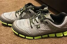 AND1 Grey Black and Neon Green Sneakers Shoes Sz 12 Lightweight Running Tennis