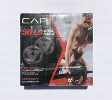 NEW CAP 50LB Olympic Weight Plate Set (2) 25LB Plates Cast Iron 2 Inch Free Ship
