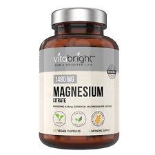 VitaBright 1480mg Magnesium Citrate 240 Vegan Capsules 4 Months Supply