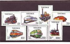 a117 - TANZANIA - SG1082-1088 MNH 1991 LOCOMOTIVES OF THE WORLD