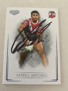 SYDNEY ROOSTERS LATRELL MITCHELL SIGNED 2019 TRADING CARD