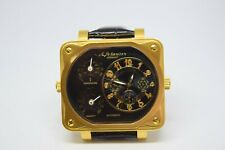 18ct Gold Plated Superb Mans Multi Dial Automatic Watch by M.Johansson