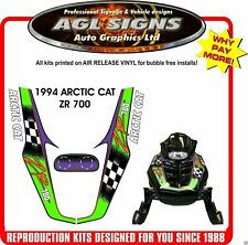 1994 ARCTIC CAT ZR 700 Reproduction decal Kit    graphics stickers
