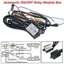 Car DRL LED Light Automatic ON/OFF Controller Module Box Relay Harness Kit 12W
